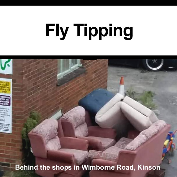 Fly tipping in kinson