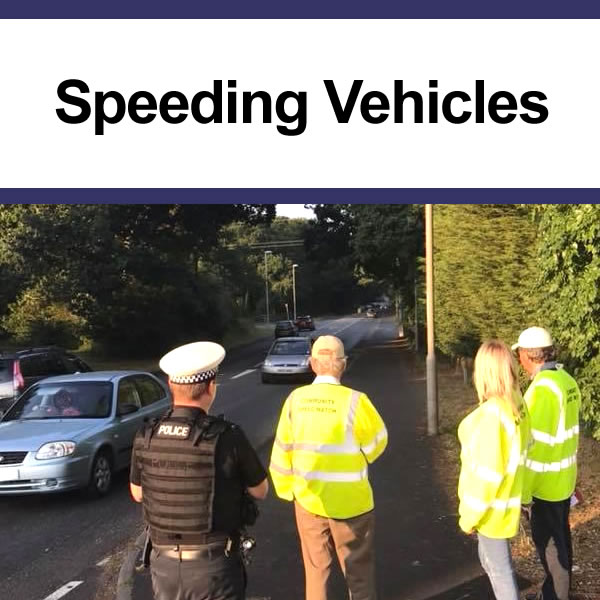 Addressing speeding vehicles in the community