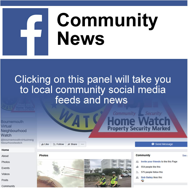 Click on this panel to get community news from socail media