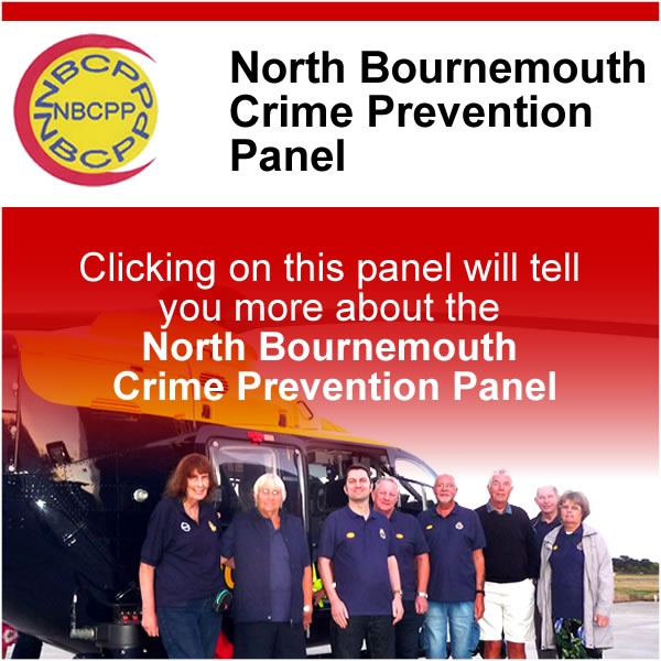 Clicking on this panel will take you to the North Bournemouth Crime Perevention Panel page