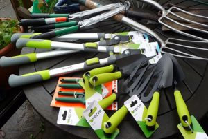 older ladies from sheltered housing flats who have kindly donated some extra edging tools