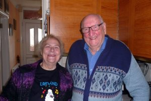 Ray Cozins (Kingsleigh School historical archive) with Hazel Thorby (Kinson School & Village Memories)