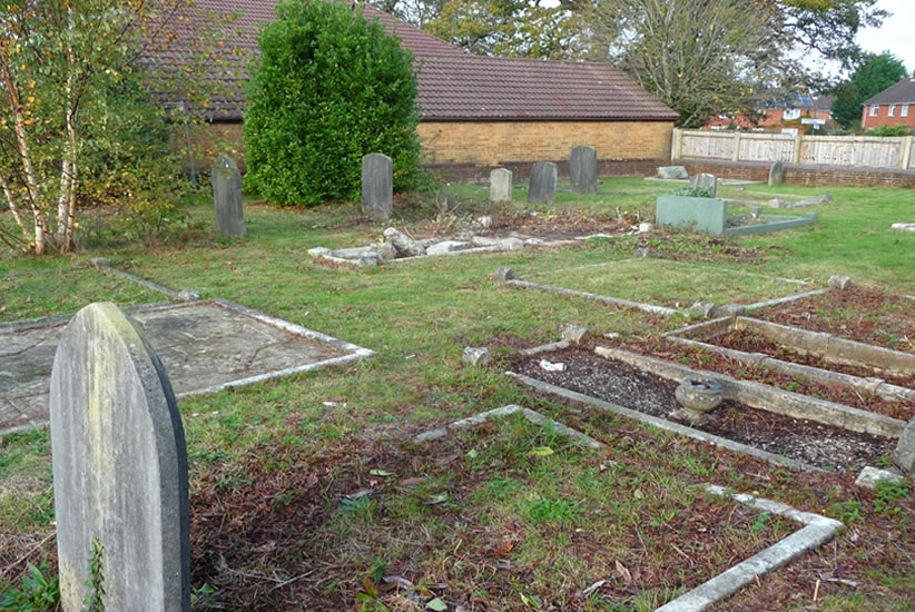 This churchyard will look beautiful when all the spring bulbs come up in